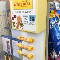 Burt's Bees Corugated Strip Merchandiser 2