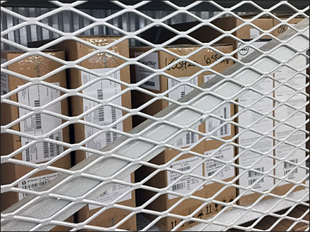 Expanded Metal Secured Backstock Closeup