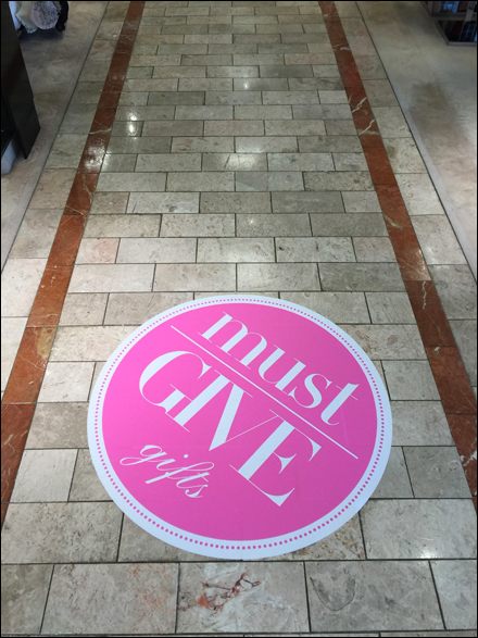 Must Give Gifts Aisle Floor Graphic