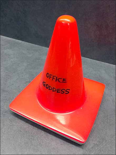Office Goddess Traffic Cone Perspective
