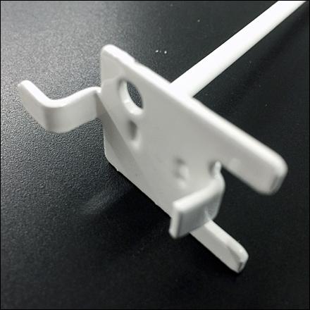 One-Hole Single Lug Pegboard Display Hook CloseUp