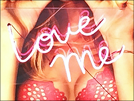 Victoria's Secret Neon Love Me Aux