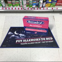 Benadryl Floor Graphic 2
