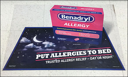 Benadryl Floor Graphic Main