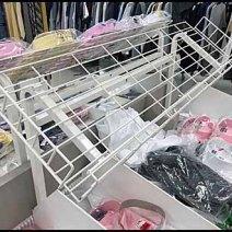 Declined Open Wire Dress Shirt Rack 2