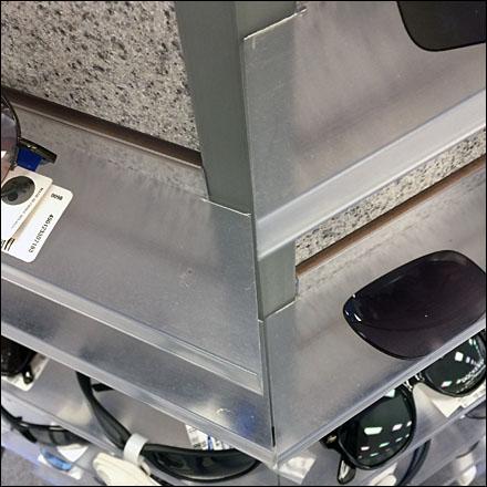 Mitered Sunglass Hexagon Trays Closeup