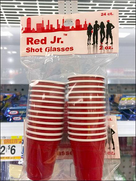 Red Jr Shot Glass Strip Merchandiser Main