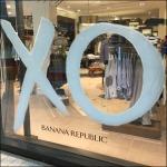 Hugs and Kisses Window Cling at Banana Republic Sq
