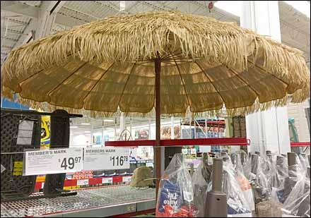 Hula Beach Umbrella Closeup