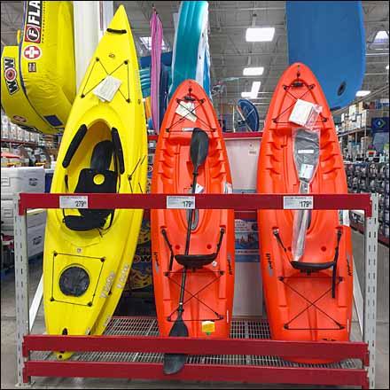 Kayak Pallet Rack Display Vertical Main