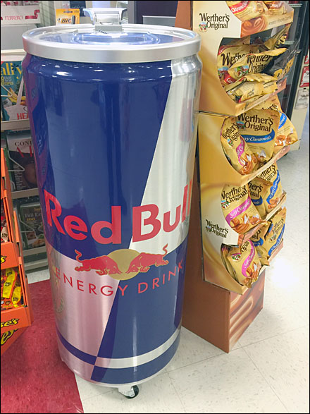 Red Bull Rolling Point-of-Sale Cooler
