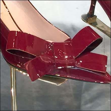 Red Patten Leather Be-Ribboned High Heels Main