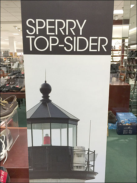 Sperry Topsider Lighthouse Tall Sign Main
