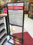 In-Store Hiring Notice With Hours Aux
