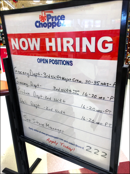 In-Store Hiring Notice With Hours Main