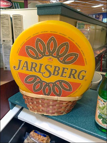 Jarlsberg Cheese Wheel in Wicker Main