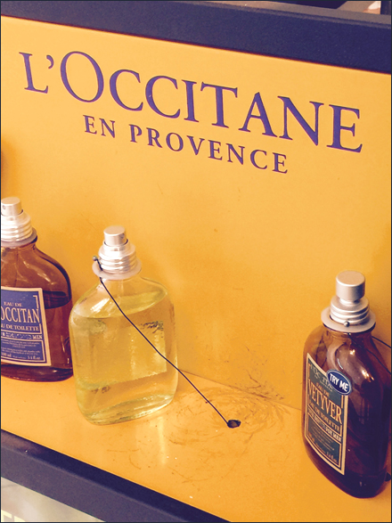 Security Tethered L-Occitane Fragrance Samplers Main