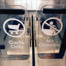Target Carts No Kids Escalator 3