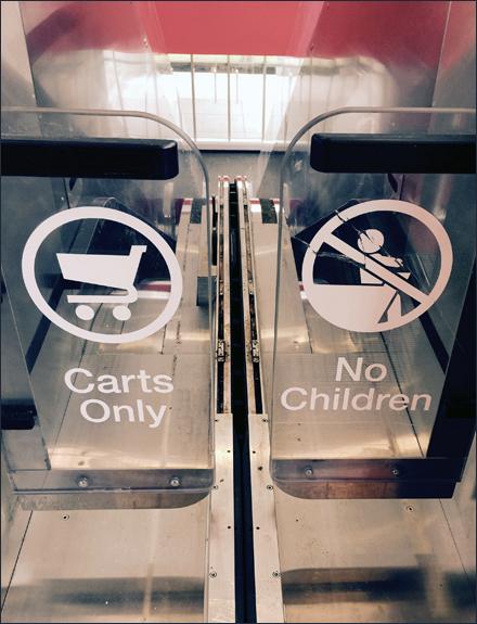 Target Carts No Kids Escalator Main