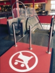 Target No-Carts Escalator Warning