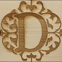 Democracy Logo Wood Burn 3