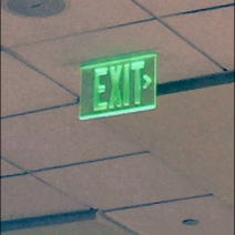 Exit Sign in Green 3