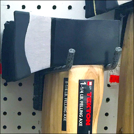 Hatchet Pegboard Utility Hook Hang Main