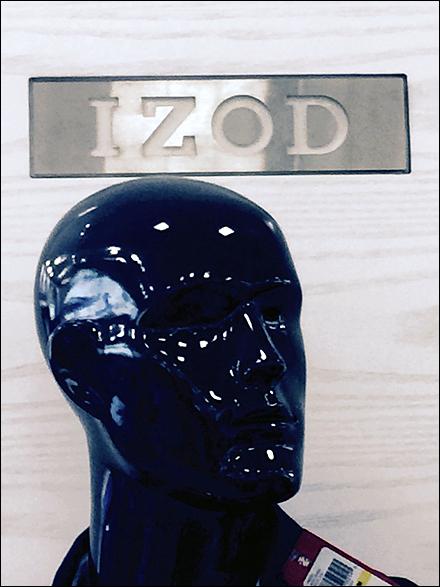 Izod Branded Plaque CloseUp