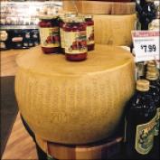 Oversize Cheese Wheel Merchandising at Kings