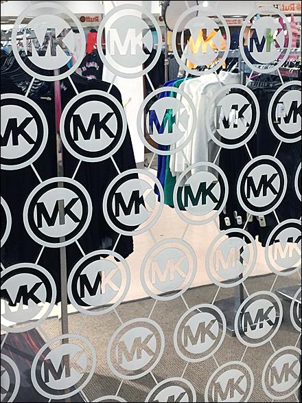 Michael Kors Step-And-Repeat Logo Mirror