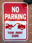 No Parking Tow Away Zone Threat in Retail