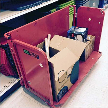 Target Red Walled Transport Cart