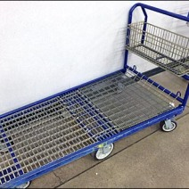 6-Wheel Dolly With Wire Basket 1