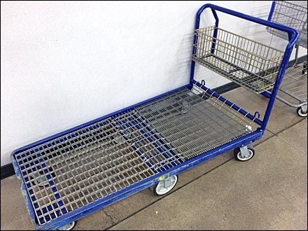 6-Wheel Shopping Dolly With Wire Basket