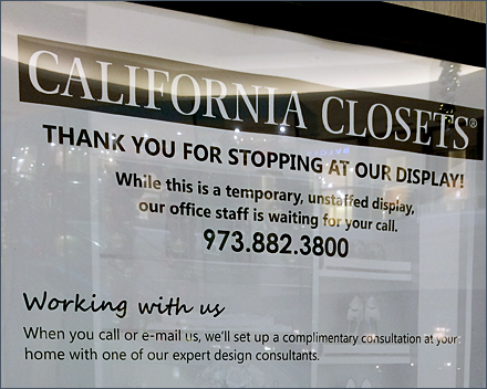 California Closets® Staff-less Kiosk Sales Pitch