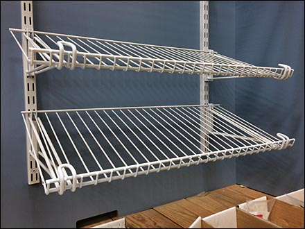 Declined Open Wire Wall Shelves