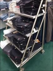Diamond Plate Stairs as Retail Shelves