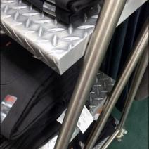 Diamond Plate Ladder as Retail Shelves 3