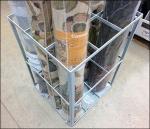 Freestanding Divided Carpet Rack