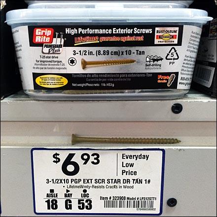 GripRite® Shelf-Edge Screw Sampler