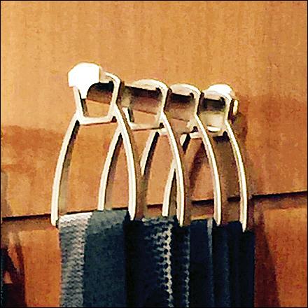 Hermes Sculpted Necktie Hooks Main