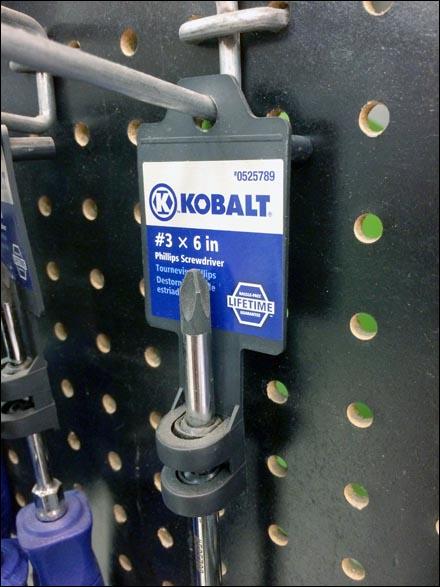 Kobalt® Screwdriver Scabbard Merchandising