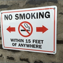 No Smoking Within 15 Feet of Anywhere