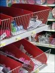 Reversable Plastic Shelf Dividers