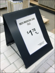Tile Holder as Sign Stand
