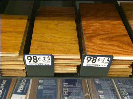 Wood Finish Sampler Rack