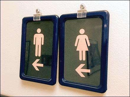Ambidexerous Restroom Navigation Signs Left