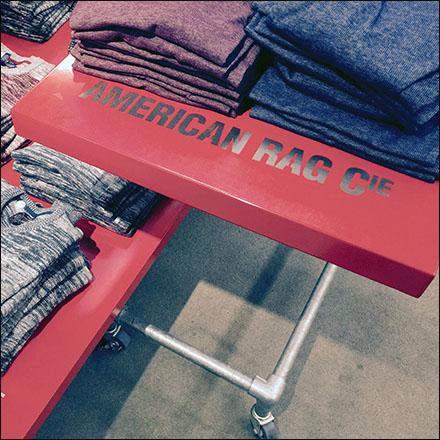 American Rag® Flat Surface Branding.