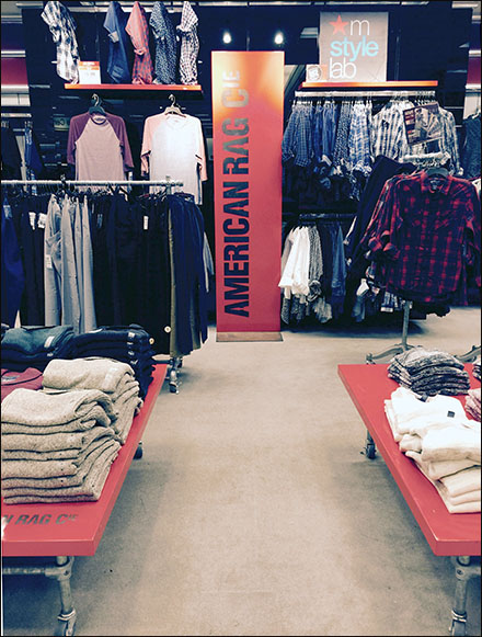 American Rag® Vertical Surface Branding