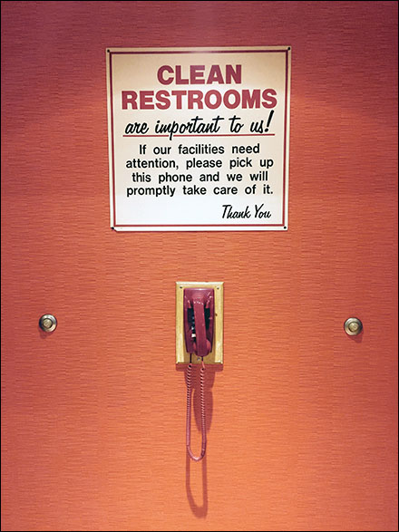Restroom Telephony as Call Button